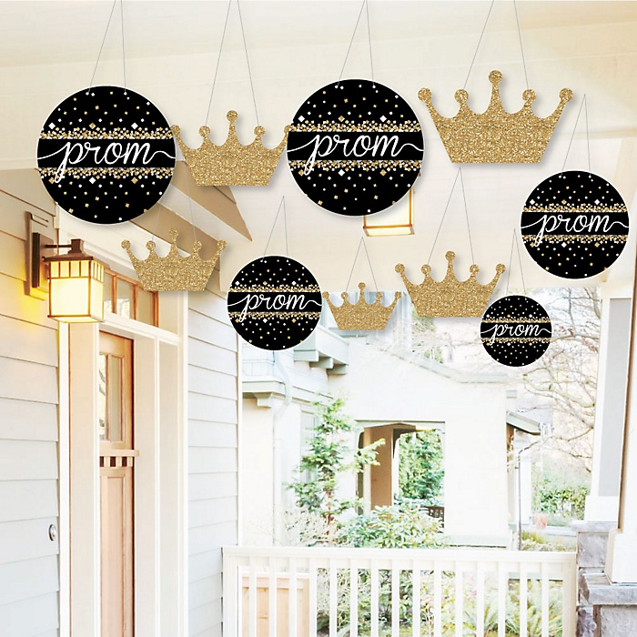Hanging Prom - Outdoor Prom Night Party Hanging Porch & Tree Yard Decorations - 10 Pieces