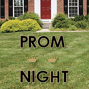 Prom - Yard Sign Outdoor Lawn Decorations - Prom Night Party Yard Signs - Prom Night