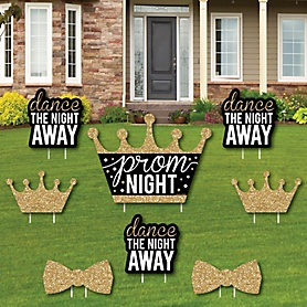 Prom - Yard Sign and Outdoor Lawn Decorations - Prom Night Party Yard Signs - Set of 8