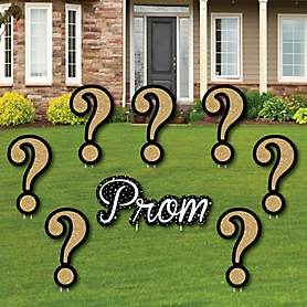 Promposal - Yard Sign & Outdoor Lawn Decorations - Prom Proposal Yard Signs - Set of 8