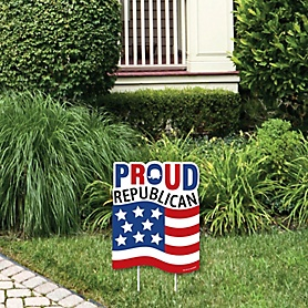 Proud Republican - Outdoor Lawn Sign - Political 2020 Election Party Yard Sign - 1 Piece