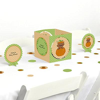 Little Pumpkin African American   Baby Shower Centerpiece U0026 Table  Decoration Kit