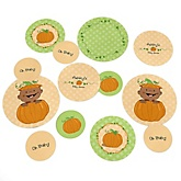 Little Pumpkin African American - Personalized Baby Shower Table Confetti - 27 ct