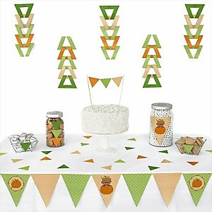 Little Pumpkin African American - 72 Piece Triangle Party Decoration Kit