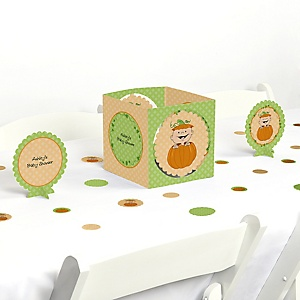 Little Pumpkin Caucasian - Baby Shower Centerpiece & Table Decoration Kit