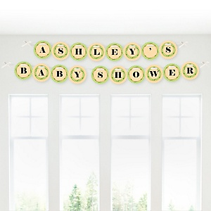 Little Pumpkin Caucasian - Personalized Baby Shower Garland Letter Banners