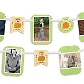 Little Pumpkin Caucasian - Baby Shower Photo Garland Banners