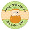 Little Pumpkin - Personalized Baby Shower Sticker Labels - 24 ct