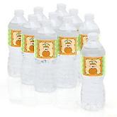 Little Pumpkin Caucasian - Personalized Party Water Bottle Sticker Labels - Set of 10