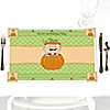 Little Pumpkin Caucasian - Personalized Birthday Party Placemats