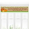 Pumpkin Patch - Personalized Fall & Thanksgiving Baby Shower Banners