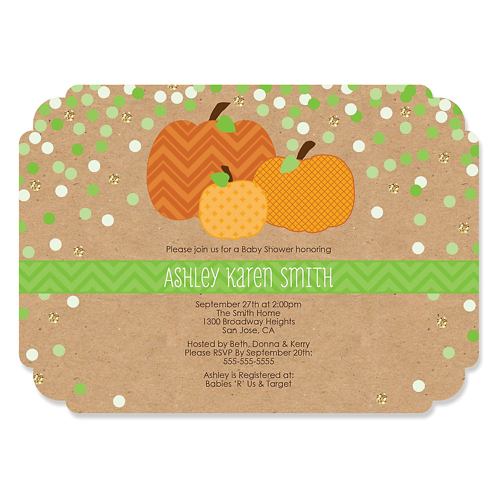 Pumpkin patch personalized fall thanksgiving baby shower loading filmwisefo