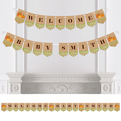Pumpkin Patch Personalized Fall Thanksgiving Baby Shower Bunting Banner Decorations Bigdotofhappiness Com