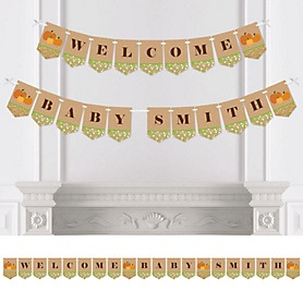 Pumpkin Patch - Personalized Fall & Thanksgiving Baby Shower Bunting Banner & Decorations