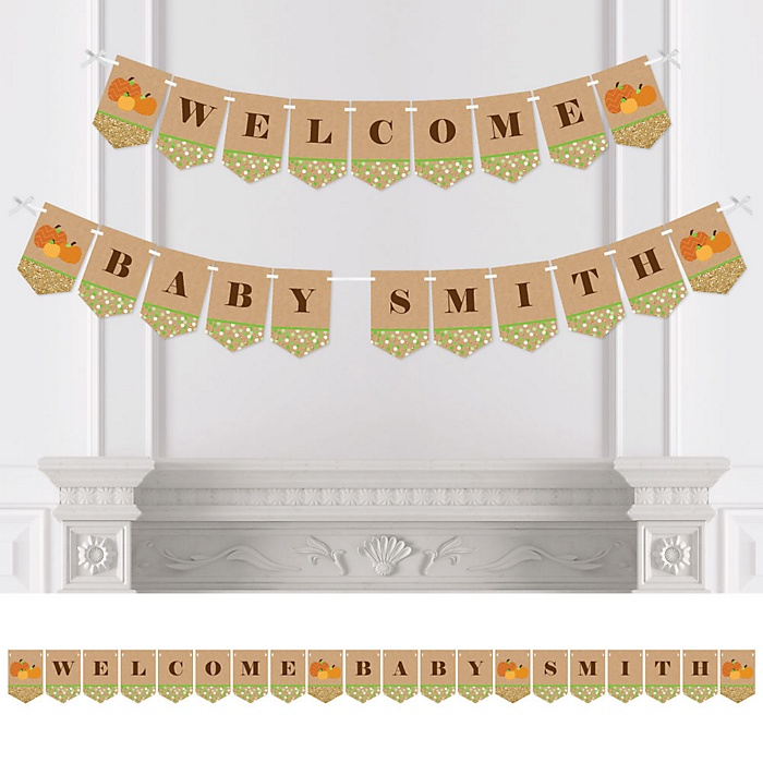 Pumpkin Patch - Personalized Fall & Halloween Baby Shower Bunting Banner & Decorations