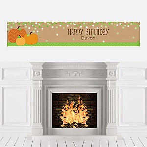 Pumpkin Patch - Personalized Fall & Thanksgiving Birthday Party Banners
