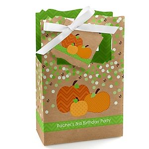 Pumpkin Patch - Personalized Fall & Thanksgiving Birthday Party Favor Boxes - Set of 12