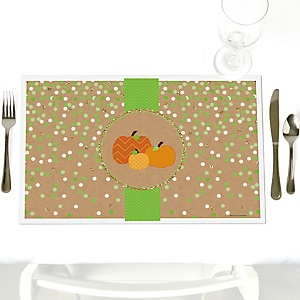 Pumpkin Patch - Party Table Decorations - Fall & Thanksgiving Party Placemats - Set of 12