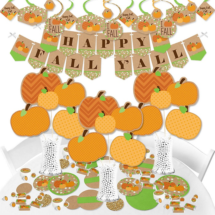 Pumpkin Patch - Fall and Thanksgiving Party Supplies - Banner Decoration Kit - Fundle Bundle