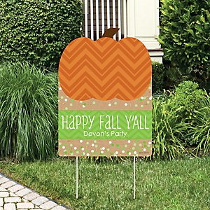 Pumpkin Patch - Party Decorations - Fall & Thanksgiving Personalized Welcome Yard Sign