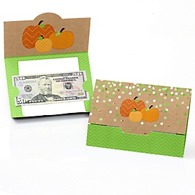Pumpkin Patch - Fall & Thanksgiving Party Money And Gift Card Holders - Set of 8