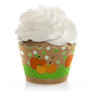 Pumpkin Patch - Fall & Thanksgiving Party Decorations - Party Cupcake Wrappers - Set of 12