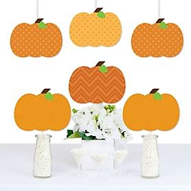 Pumpkin Patch - Pumpkin Decorations DIY Fall & Thanksgiving Party Essentials - Set of 20
