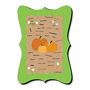 Pumpkin Patch - Unique Alternative Guest Book - Fall & Thanksgiving Party Signature Mat