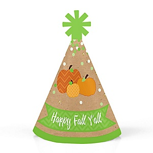 Pumpkin Patch - Personalized Mini Cone Fall & Thanksgiving Party Hats - Small Little Party Hats - Set of 10
