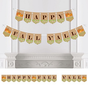 Pumpkin Patch - Fall & Thanksgiving Party Bunting Banner & Decorations