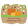 Pumpkin Patch - Personalized Fall & Thanksgiving Party Squiggle Stickers - 16 ct