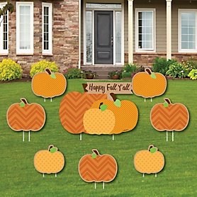 Pumpkin Patch - Yard Sign & Outdoor Lawn Decorations - Fall & Thanksgiving Party Yard Signs - Set of 8