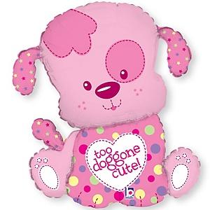 Puppy Girl - Baby Shower Mylar Balloon