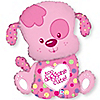 Puppy Girl - Birthday Party Mylar Balloon