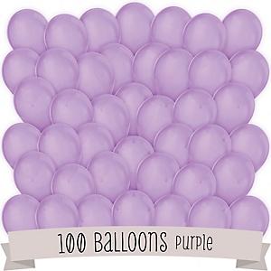 Purple - Baby Shower Latex Balloons - 100 ct