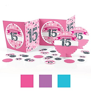 Quinceañera - Sweet 15 - Birthday Party Centerpiece and Table Decoration Kit