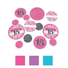 Quinceañera - Sweet 15 - Birthday Party Table Confetti - 27 ct