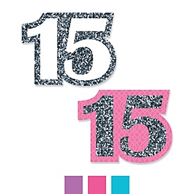 Quinceanera - Sweet 15 - DIY Shaped Birthday Party Paper Cut-Outs - 24 ct