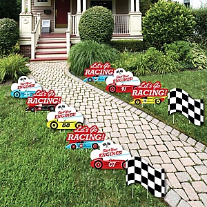 let s go racing racecar birthday party theme bigdotofhappiness com