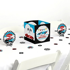 Let's Go Racing - Racecar - Race Car Birthday Party or Baby Shower Centerpiece and Table Decoration Kit