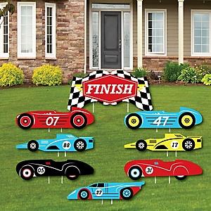 Boys Rad Race Car Themed Birthday Party Table Decoration Centerpiece