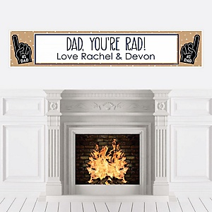 My Dad is Rad - Personalized Father's Day Party Banner