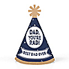 My Dad is Rad  - Personalized Mini Cone Father's Day Party Hats - Small Little Party Hats - Set of 10