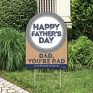 My Dad is Rad - Father's Day Party Decorations - Father's Day Party Personalized Welcome Yard Sign