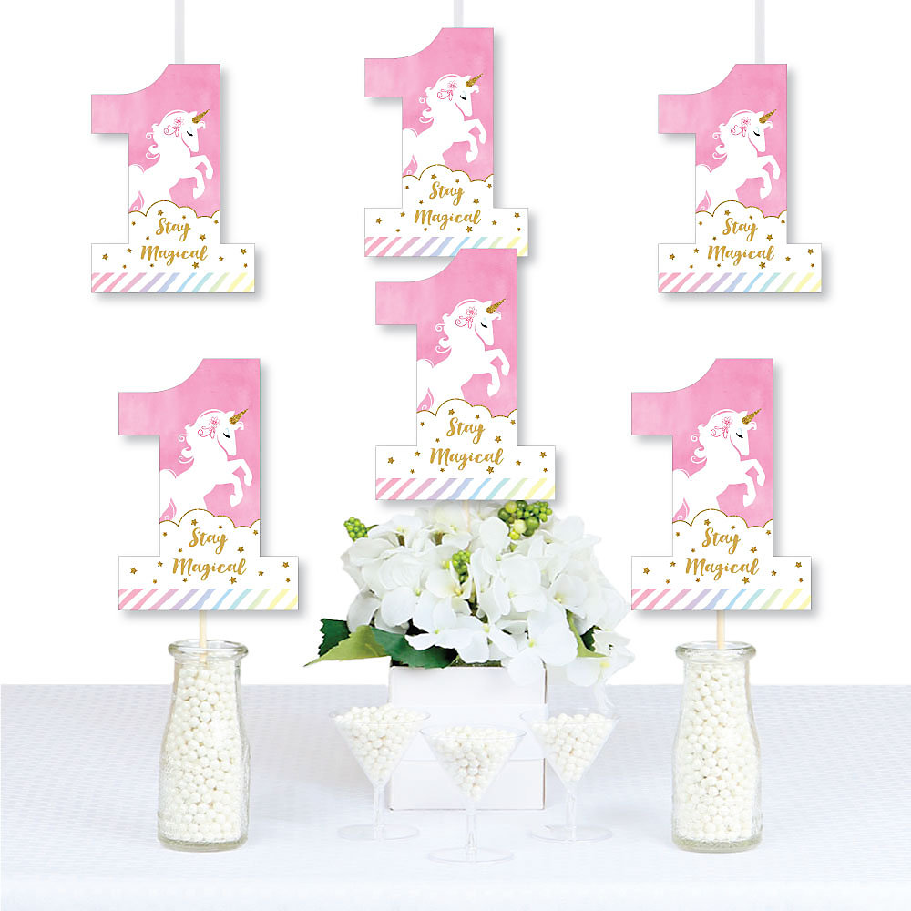 Decorations DIY Magical Unicorn First Birthday Party Essentials Double Tap To Zoom