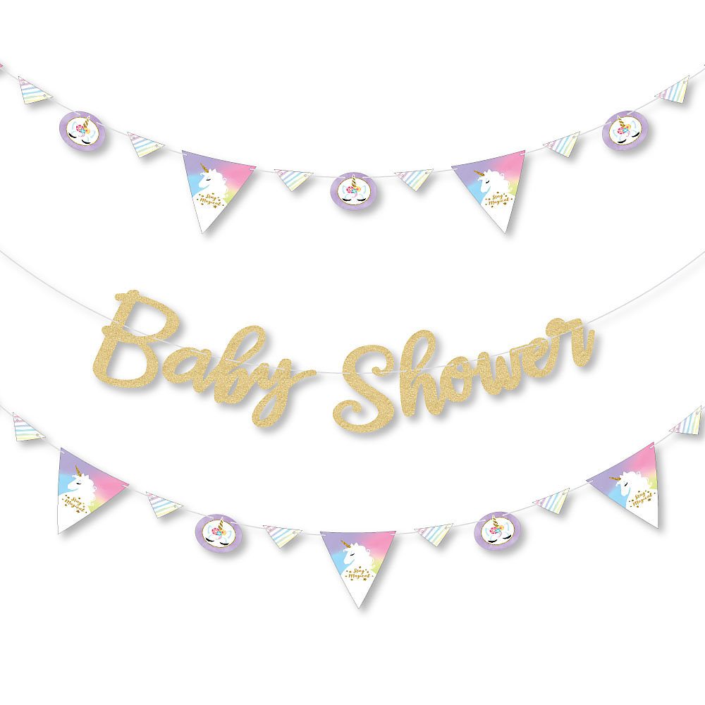 Rainbow Unicorn Magical Unicorn Baby Shower Letter Banner