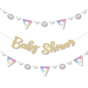 Rainbow Unicorn Magical Unicorn Baby Shower Letter Banner