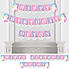 Rainbow Unicorn - Personalized Birthday Party Bunting Banner & Decorations