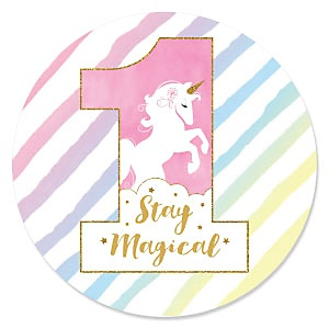 1st Birthday Rainbow Unicorn - First Birthday Party Theme