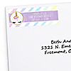 Rainbow Unicorn - Personalized Magical Unicorn Baby Shower or Birthday Party Return Address Labels - 30 ct